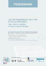 Programme su Séminaire des Lettres 2011